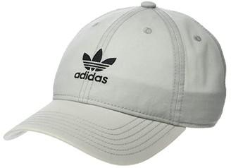 adidas Originals Cloud Relaxed Adjustable Strapback Cap (Clear Onix/Black) Caps