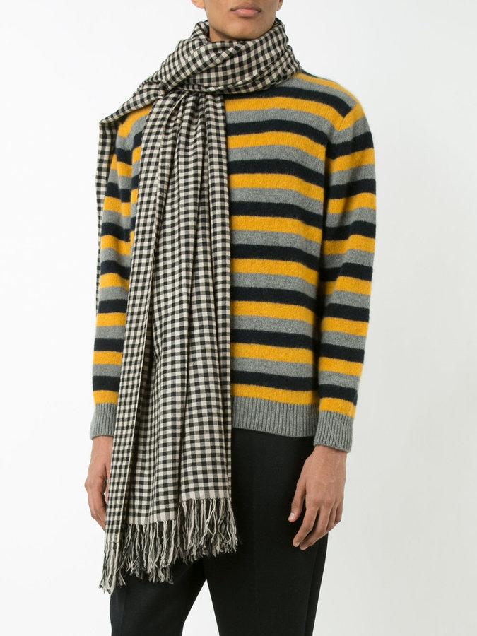 The Elder Statesman cashmere checked scarf