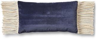 One Kings Lane Tessa 12x23 Lumbar Pillow - Navy Velvet