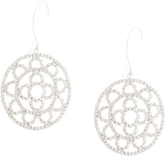 Area Crystal Chain Crochet Earrings