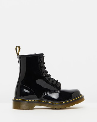 Dr. Martens Women's Black Lace-up Boots - Womens 1460 Patent 8-Eye Boots - Size 3 at The Iconic