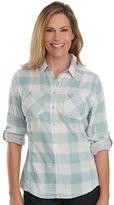 Woolrich Women's Conundrum Plaid Roll-Tab Shirt