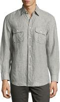 Billy Reid Brantley Linen Utility Shirt