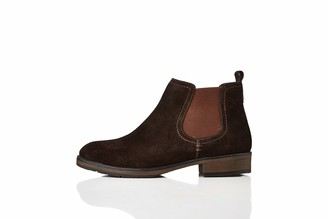 Find. Casual Suede Chelsea Boots Brown Chocolate) 4 UK