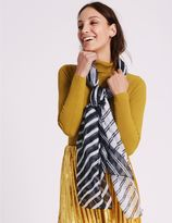 Marks and Spencer Spliced Stripe Scarf