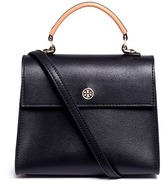 Tory Burch 'Parker' colourblock small leather satchel