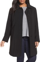 Gallery Plus Size Women's Nepage Walking Coat With Removable Hood & Liner