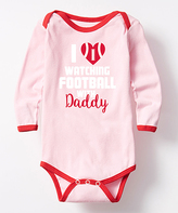 Pink & Red 'Watching Football' Bodysuit - Infant