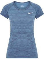 Nike Paneled Dri-fit Stretch T-shirt - Blue
