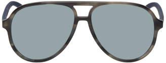 Gucci Grey Sport Pilot Sunglasses