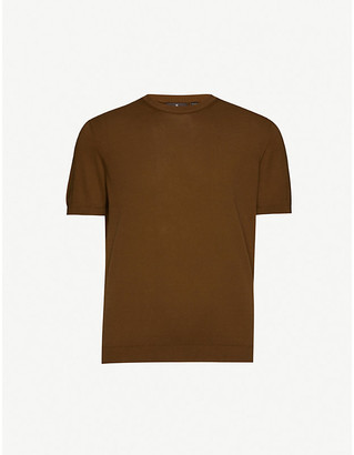 Oscar Jacobson Barth knitted cotton T-shirt