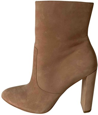 Buffalo David Bitton Beige Leather Ankle boots