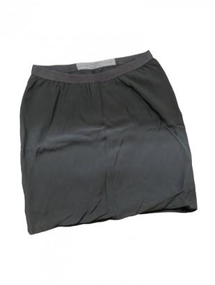 Rick Owens Anthracite Viscose Shorts