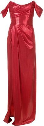 Marchesa Notte Long Strapless Dress
