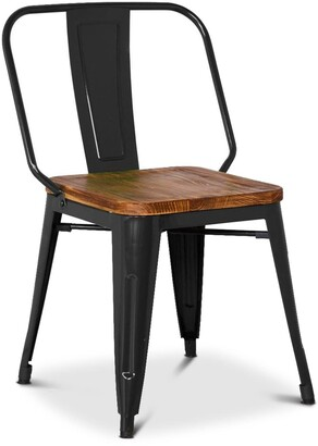 Apt2B Grand Metal Side Chair BLACK - SET OF 4