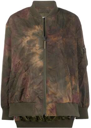 Yves Salomon Tie Dyed Bomber Jacket