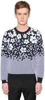 DSQUARED2 Gradient Wool Blend Jacquard Sweater