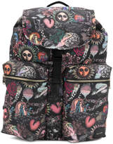 Paul Smith patterned multi-pocket backpack