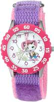 Disney Girl's 'Sheriff Callie' Quartz Stainless Steel and Nylon Automatic Watch, Color: (Model: W003087)