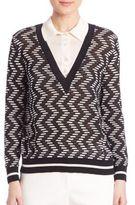 M Missoni Rod V-Neck Knit Sweater
