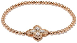 Roberto Coin 18kt rose gold Princess Flower diamond bracelet