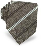 Forzieri Diagonal Stripe Woven Silk Men's Tie