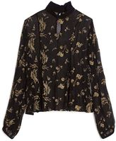 Suno Embroidered Chiffon Top