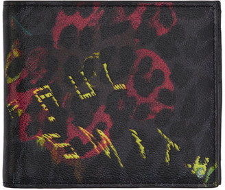 Paul Smith Black Leopard Mix Zip Wallet