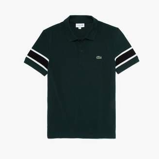Lacoste Men's Slim Fit Striped-Sleeve Stretch Cotton Pique Polo Shirt