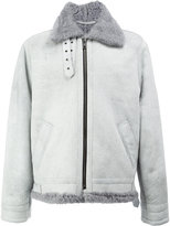 Ports 1961 shearling collared jacket
