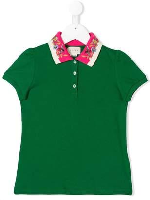 Gucci Kids embellished collar polo shirt