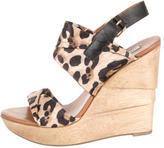 Diane von Furstenberg Leopard Printed Platform Wedges
