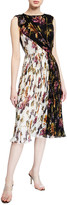 Derek Lam Jason Wu Collection Floral-Print Crinkled Chiffon Dress