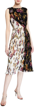 Derek Lam Jason Wu Collection Floral-Print Crinkled Chiffon Dress