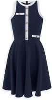 David Charles Girl's Contrast Trim A-Line Dress