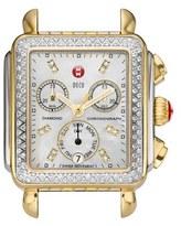 Michele 'Deco Diamond' Diamond Dial Two-Tone Watch Case, 33mm x 35mm