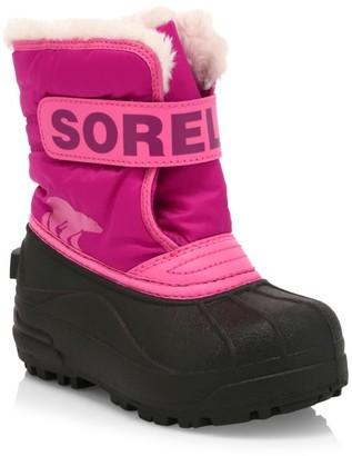 Sorel GIrl's Snow Commander Waterproof Faux Shearling-Lined Boots