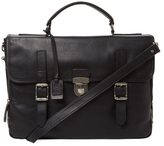 Frye Logan Leather Buckle Briefcase