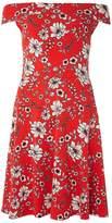 Dorothy Perkins **Tall Red Floral Bardot Dress
