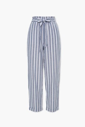 Forever 21 Striped Paperbag Pants