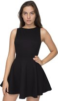 American Apparel Women's Ponte Sleeveless Skater Dress