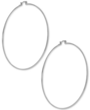 Essentials Large Wire Extra Large Hoop in Fine Silver Plate Earrings