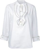 Alberta Ferretti waved trim top