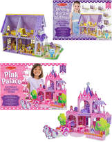 Melissa & Doug 3D Puzzle Bundle: Dollhouse & Palace
