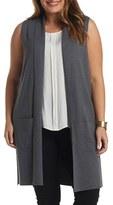Tart Plus Size Women's Melva Cotton & Cashmere Open Front Sweater Vest