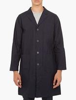 White Mountaineering Navy Cotton-blend Coat