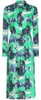 Gucci Printed silk shirt dress