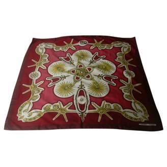 Hermes Carre 90 Burgundy Silk Silk handkerchief