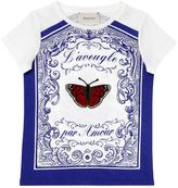 Gucci Butterfly Patch Printed Jersey T-Shirt