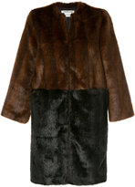 CITYSHOP two-tone faux fur coat
